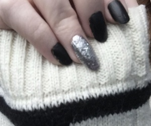 fake nails, matte, and sweater image