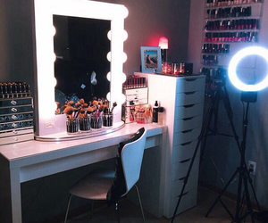 makeup, beauty, and vanity image
