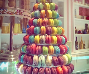 bakery, food, and macaroons image