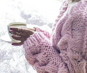 coffe, pink, and winter image