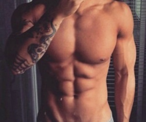 fitness man abs v lines image