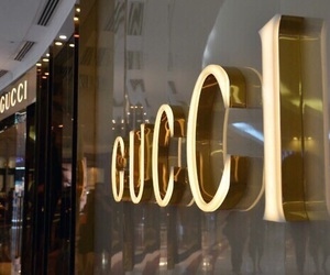 gucci, luxury, and gold image