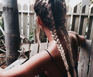 hair, girl, and braid image