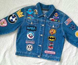 beautiful, jacket, and patches image