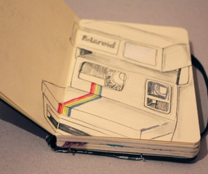 polaroid and drawing image