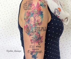 tattoo, words, and orchide image