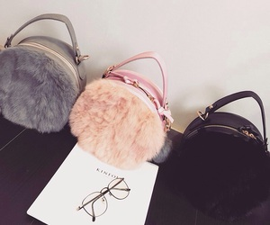 fluffy bag and round bags image