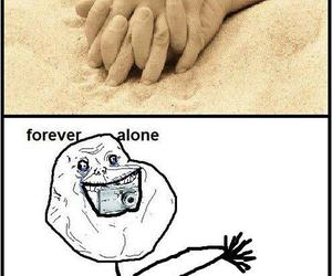 forever alone, funny, and alone image