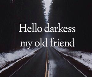 Darkness, friends, and sad image