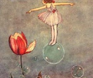 bubbles, flowers, and art image