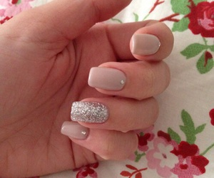 glitter, nails, and gelnails image