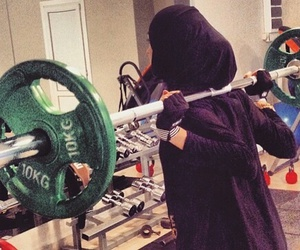 sport, hijab, and fitness image