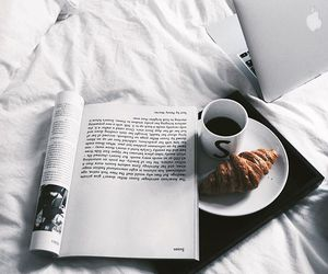 coffee, breakfast, and bed image