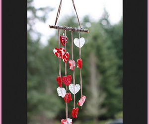 crafts, valentine's day crafts, and wind chimes image