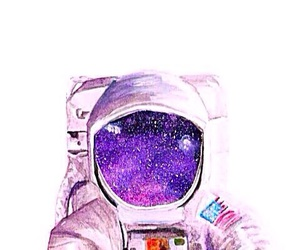 astronaut, drawing, and painting image
