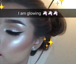 makeup, beauty, and glowing image