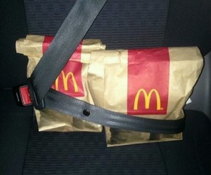 food, McDonalds, and car image