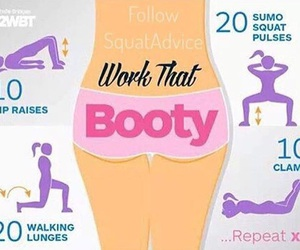 booty, butt, and excersise image