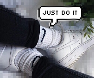 Just Do It, nike, and smile image