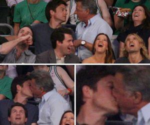 dustin hoffman, gay kiss, and jason bateman image