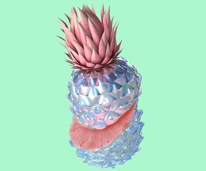 green, pineapple, and pink image