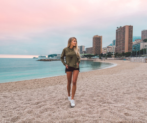 beach, girl, and monaco image