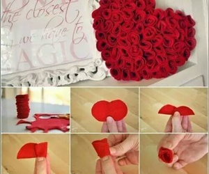 diy, rose, and heart image