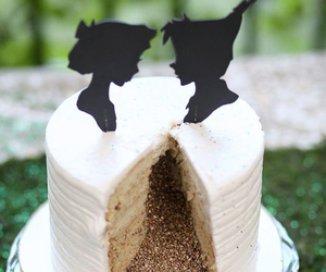 cake, peter pan, and wedding image
