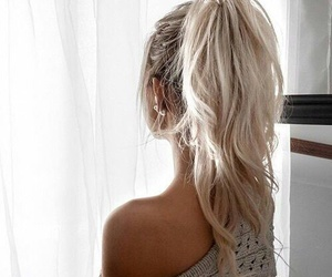 hair, inside, and platinum blonde image