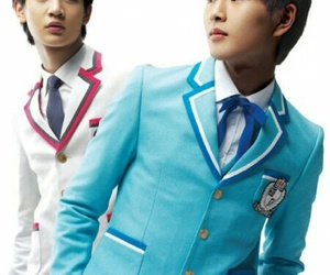 high school, Minho, and Onew image