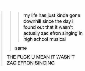zac efron, high school musical, and funny image
