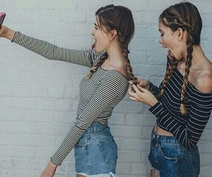 girl, friends, and braids image