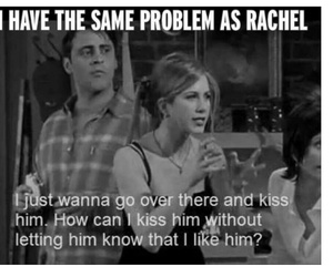 friends, kiss, and rachel image