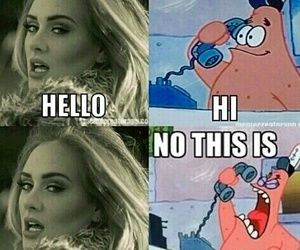 Adele, patrick, and hello image