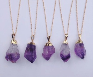 purple, necklace, and crystal image