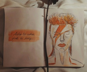 cool, david bowie, and drawing image