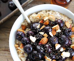 almond, berries, and breakfast image