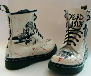 boots, blood, and shoes image