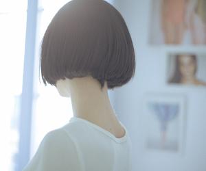 asian, hair, and black hair image