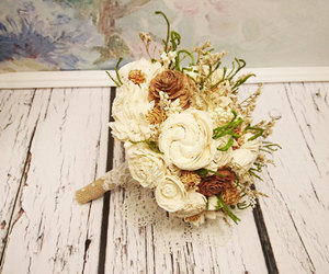 bouquet, etsy, and wedding image