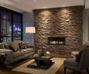 classy, fireplace, and cozy image