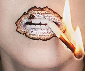 fire, burn, and lips image