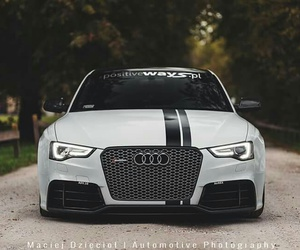 audi, rs5, and black image