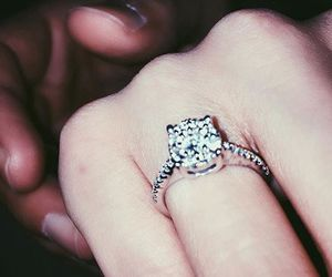 wedding, engagement ring, and love image
