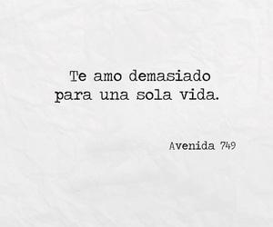 frases en español, amor, and avenida 749 image