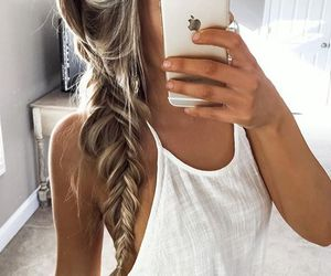 blonde, hair, and chic image