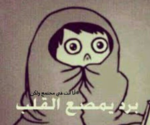 عربي, cold, and برد image