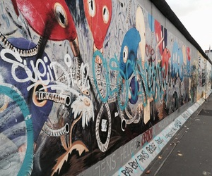 art, berlin, and berlin wall image