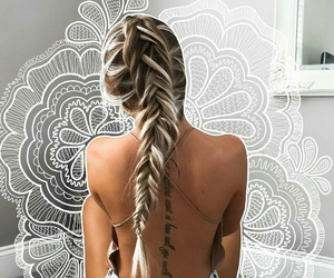 beautiful, braid, and colors image