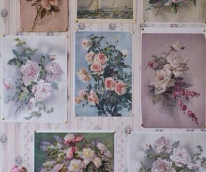 floral, photos, and vintage image